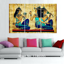 big size modern living room home wall art decor abstract hieroglyphics papyrus picture print canvas painting large big paintings