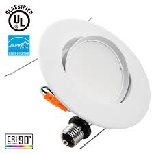 dimmable led recessed lighting fixtures 10 watt warm white. 10w 5-6 inch directional energy star ul-classified dimmable led recessed lighting fixture - warm white/daylight ceiling light 920lm 75w equivalent led fixtures 10 watt white