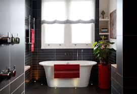 Dark Red Bathroom Red Black And White Bathroom Decor House Decor