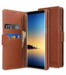 melkco premium leather case for samsung galaxy note 8 wallet book type orange brown