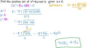 question solving quadratic