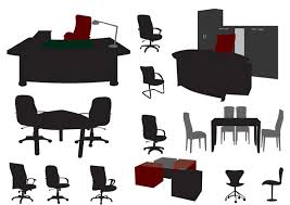 free office furniture. Free Vector Office Furniture E