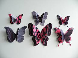 3d Butterfly Wall Decor Bedroom Cute Removable 3d Butterflies Wall Craft Decorations For