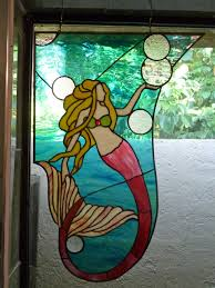 Mermaid Stained Glass Pattern Interesting Inspiration Design