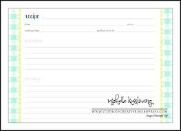 pages recipe card template free printable full page templates blank