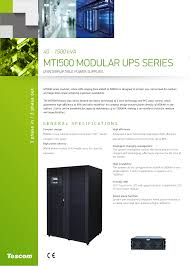 Data Center Ups Design Mti500 Modular Ups Series Manualzz Com