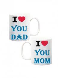 i love you mom and dad white mug