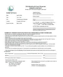 Free Wedding Planner Contract Templates Wedding Vendor Contract Template