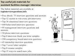 assistant facilities manager interview questionsfree pdf       top useful job materials for assistant facilities manager