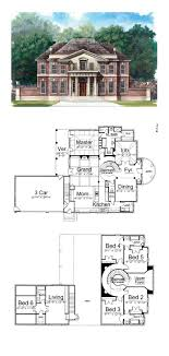 Greek Revival House Plan 72050 | Total Living Area: 3283 sq. ft.,