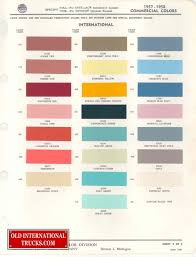 1957 1958 Colors Color Charts Old International Truck