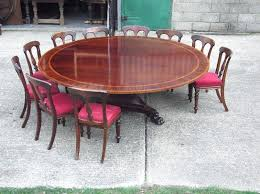 round dining table for 10 people huge round table diameter round regency revival mahogany antique dining