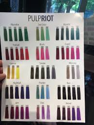 Pulp Riot Swatch Chart Pin On Hair