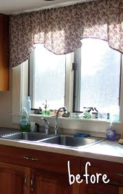 window treatment idea curtain ideas for kitchen sink window for curtains and window treatments