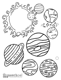 Small Picture Free Science themed coloring pages featuring simple black and