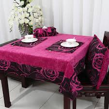 padded table cover round table pad protector pink color with cup tissue and flower