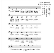 Tuba Chart How To Play The Tuba Tuba Fingering Musical Instrument