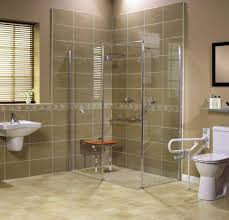 roll in showers for seniors and handicapped in barrier free modifications