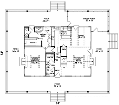 southern house plan first floor 087d 0308 house planore