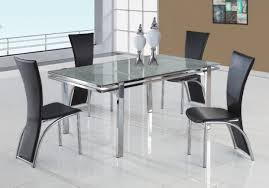 Clear Dining Room Table Clear Round Glass Top Modern Dining Table W Optional Chairs Cyds