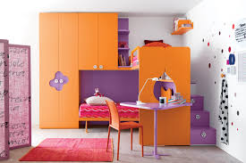 kids bedroom 2 furniture interior decoration amazing orang and purple wooden combination for bunk bed with awesome modern kids desks 2 unique kids