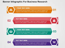 Powerpoint Template Research Banner Infographic For Business Research Powerpoint
