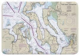 Nautical Charts San Juan Islands Wa Wa Puget Sound Northern Wa Nautical Chart Memory Foam Bath Mat