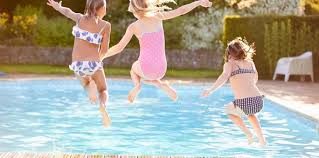 home swimming pools. Three Girls Jumping Into A Pool. Home Swimming Pools