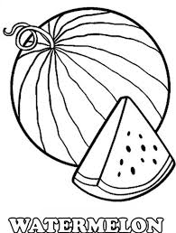 Small Picture Watermelon Coloring Pages For Kids Coloring Pages Kids