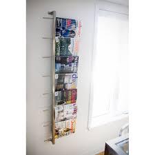 office magazine racks. Magazine Rack Wall Modern Office Racks A