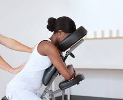 chair massage. a workplace chair massage program keeps employees healthy
