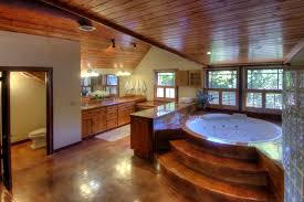 awesome bathrooms. Wooden Bathroom With Jacuzzi Awesome Bathrooms I