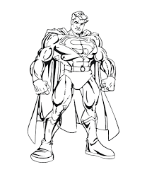 On of the first and most memorable comic book characters was our very own superman. Superman To Color For Children Superman Kids Coloring Pages