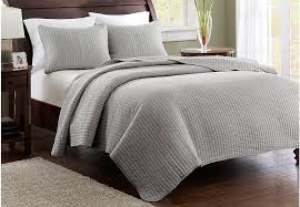 Bed Linens and Bedding Sets: Sheets, Comforters & More & Keaton Gray 3 Pc Full/Queen Coverlet Set Adamdwight.com