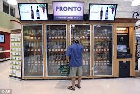 Liquor Vending Machine Japan Interesting Walmart Stores Get CCTVEnabled Breathalyzin' Wine Vending Machines