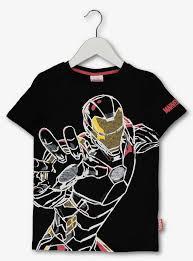 Buy Marvel Avengers <b>Iron Man</b> Black <b>T</b>-<b>Shirt</b> - 3 years | <b>T</b>-<b>shirts</b> | Argos