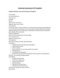 Accounts Assistant Cv Template Ukuntant Management Resume