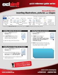 How To Make A Quick Reference Guide Free Microsoft Word 2013 Quick Reference Guide
