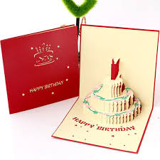 Children Birthday Cards Creative 3d Handmade Hollow Paper Carving Cake Customized Boys Girls Gift Small Greeting Cards Wholesale Free Printable