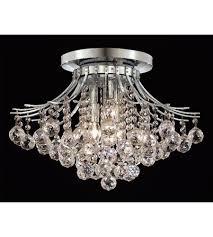 elegant lighting v8000f19c rc toureg 6 light 19 inch chrome flush mount ceiling light in royal cut