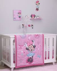 disney minnie mouse 4 piece crib bedding set all about the bows