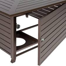 best choice s extruded aluminum gas outdoor fire pit table with cover com