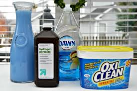 Commercial carpet shampoos and rug cleaning products contain chemicals