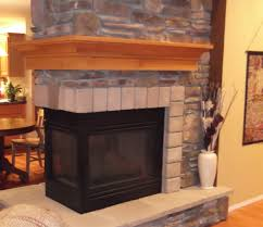 wrap around fireplace mantel sided fireplace stone mantle home decorating blog