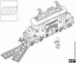 Kleurplaat Een Lego Trein Kleurplaten