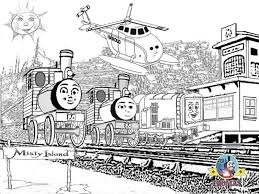 Small Picture Thomas And Friends Misty Island Rescue Coloring Pages For Kids