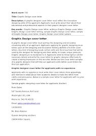design cover letter samples graphc design cover letter
