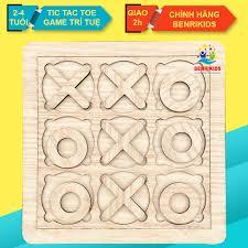 Đồ Chơi Gỗ Thông Minh Board Game Tic Tac Toe,Caro Cho Trẻ Em Từ 2 Đến 4 Tuổi  Rèn Luyện Tư Duy Logic giảm tiếp 99,000đ