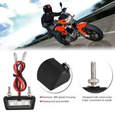 Universal Motorcycle License Plate Light Value 5 Star Waterproof License Plate Light 12v Universal