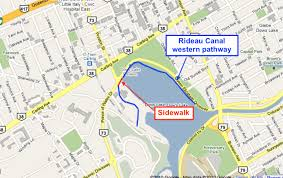 Rideau Canal Pathway Map